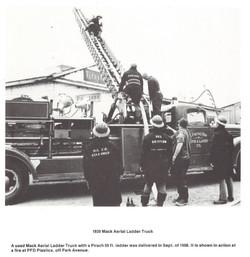 1938 Mack Aerial Ladder Truck
