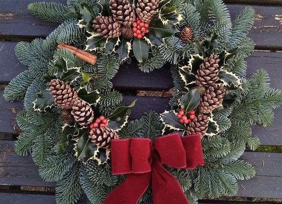 Large Luxury Christmas wreath (holly)