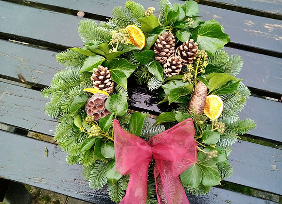 Luxury Christmas wreath (ivy)