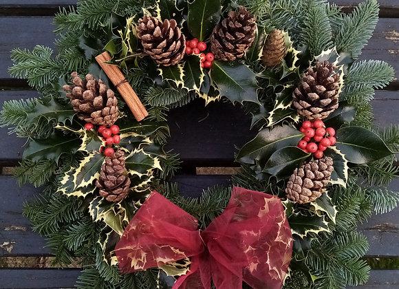 Luxury Christmas wreath (holly)