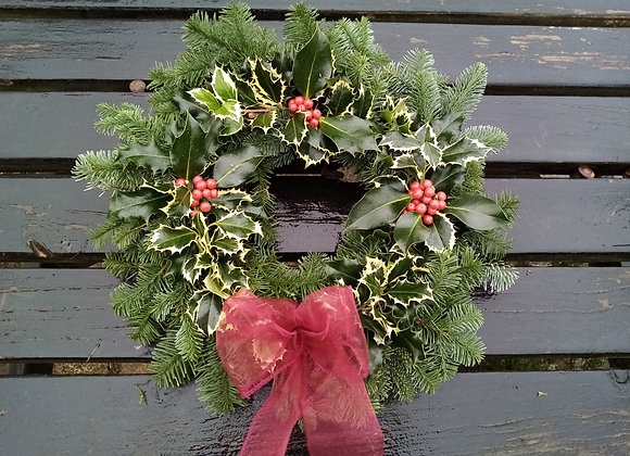Christmas Wreath (Holly and berries)