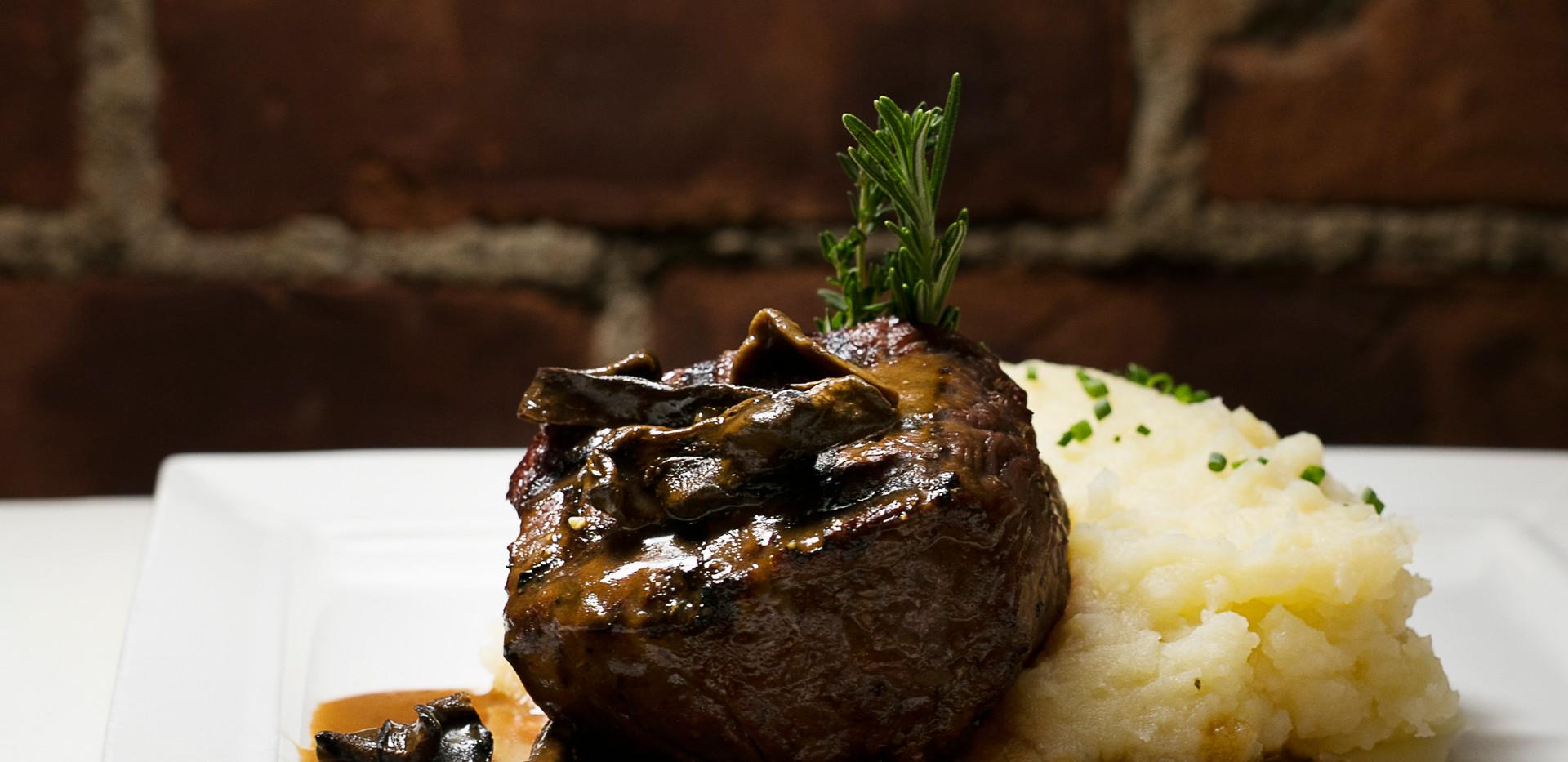 Steak in Porcini Gravy