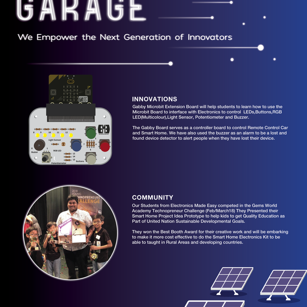 Innovation Garage Promotional Poster