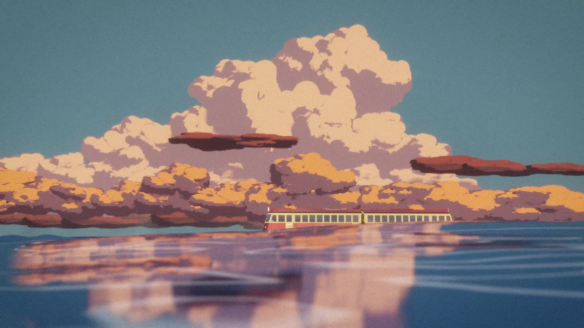 Spirited away train scene recreated in Blender
