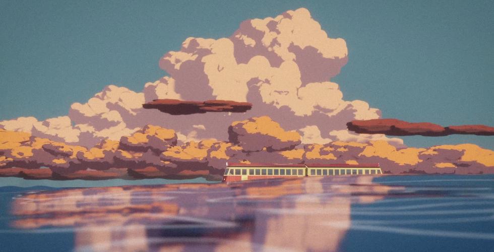 Spirited away train scene recreated in Blender