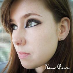 Piercing titanium nose