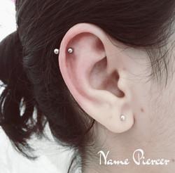 nameh piercer helix piercing double