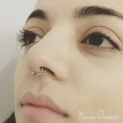 Piercing septo y nose ring