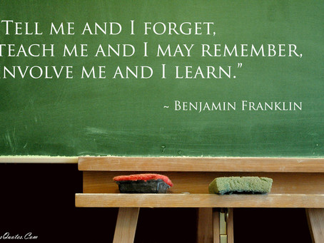 Teach me and I MAY remember...and TODAY is the World Teachers' Day!     (Hey, say something nice