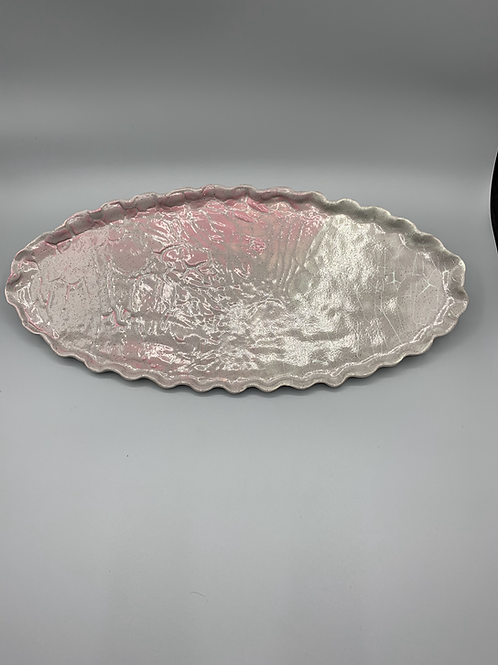 Grey with Slight Pink Ceramic Platter