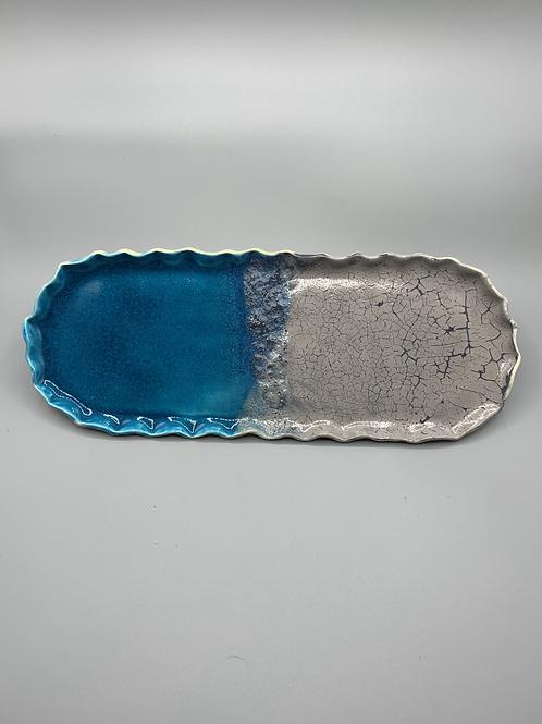 Turquoise Grey Platter