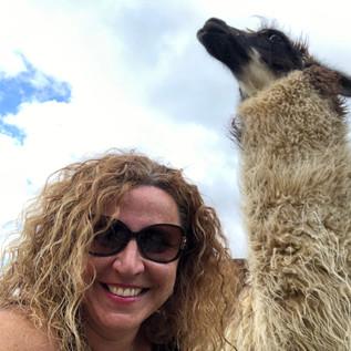 Llama Selfie in Peru
