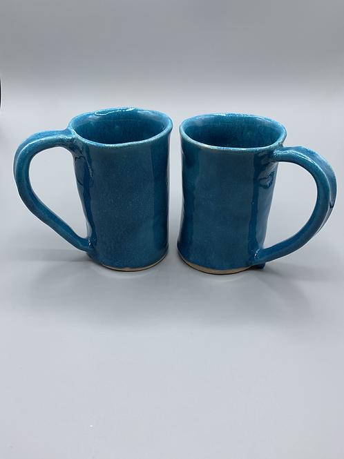 Set of Turquoise Coffee Mugs