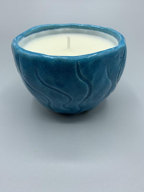 Ceramic Pinch Pot Lavender Candle