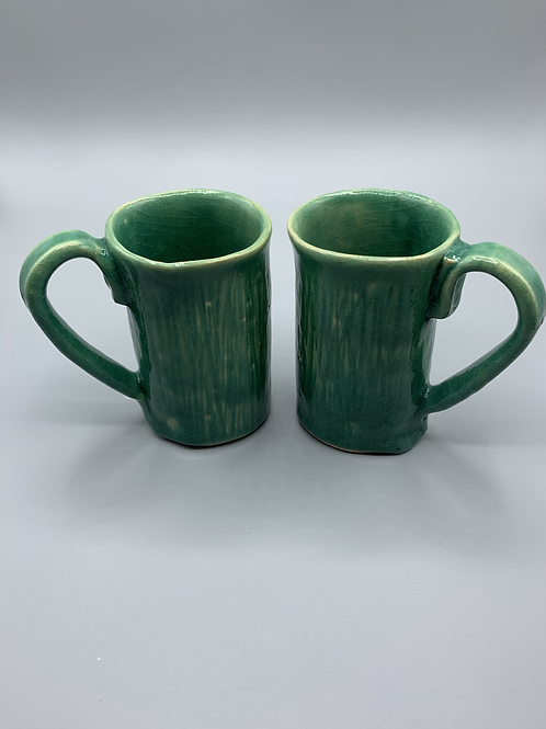 Set of Celadon Coffee Mugs