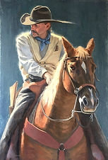 Smithville Cowboy painting finished smal