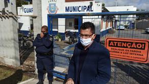 Vereadores são barrados na entrada da sede da Guarda Municipal