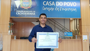 Marco recebe diploma como vereador eleito