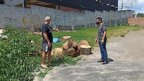 Vereador Marco fiscaliza denúncia de crime ambiental