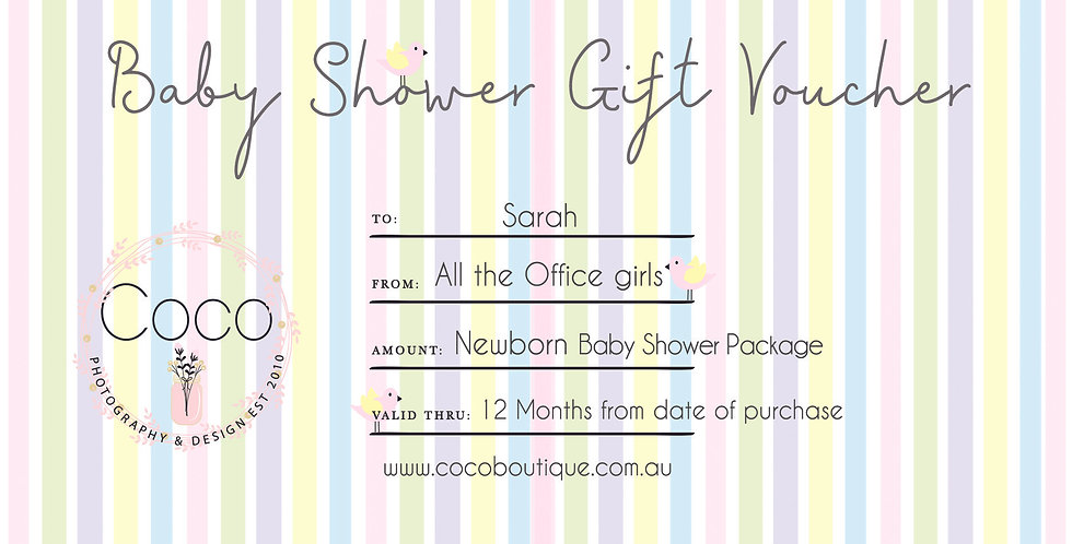 Baby Shower Gift Voucher Package 3