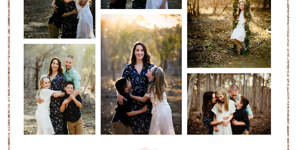 "MOTHER""S DAY PACKAGE 3- FAMILY PHOTO SESSION GIFT VOUCHER AND PRINT"