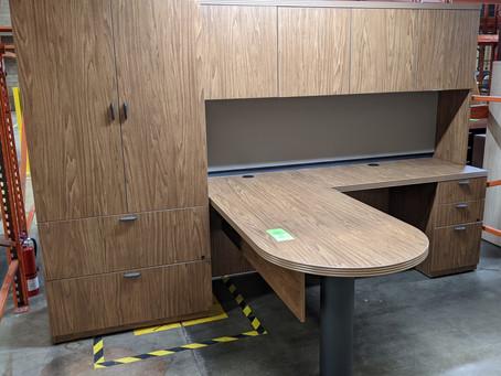 Groupe Lacasse Desk, Hutch and Wardrobe