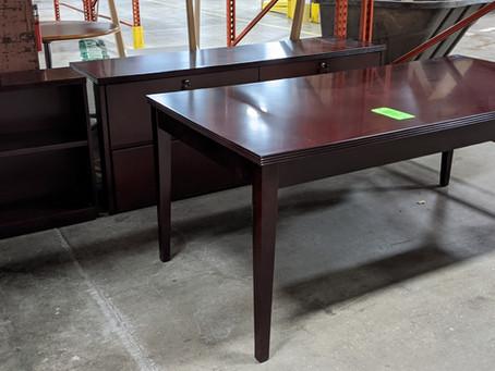Mayline Table Desk, Credenza and Bookcase