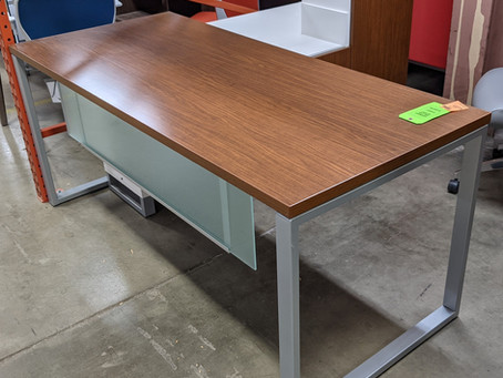 Herman Miller Intent Desk with Wall Mounted Hutch