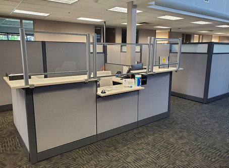 Workplace Protective Screens Installation