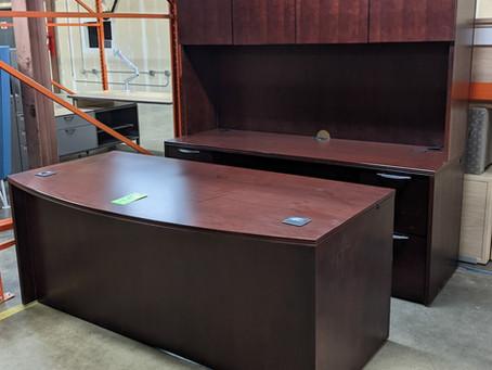 Paoli Desk, Credenza and Hutch