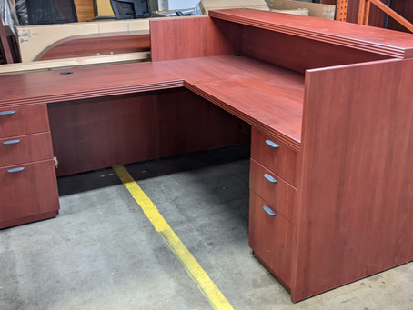 Groupe Lacasse 70 Reception Desk and Return