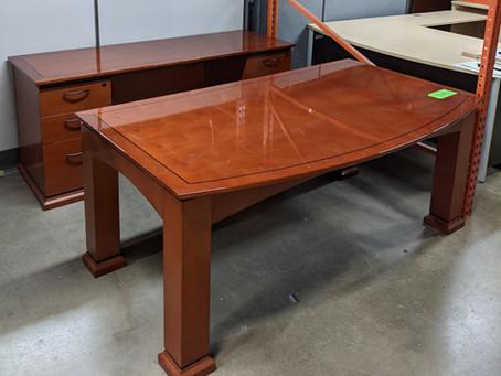 Cherryman Table Desk and Credenza