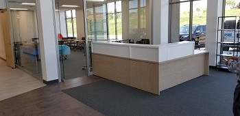 Reception Area and Private Offices
