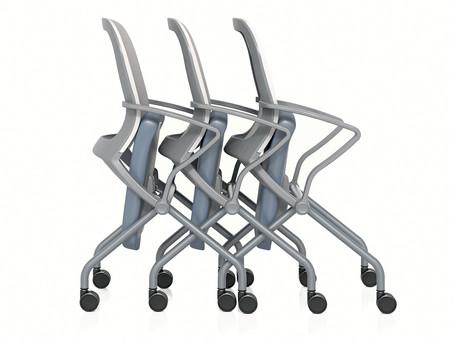 United Chair Rackup: Compact Design. Versatile. Unique Comfort.
