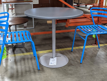 Showroom Sample Sale: Safco CoGo Steel Outdoor/Indoor Stack Chair and Entourage Table
