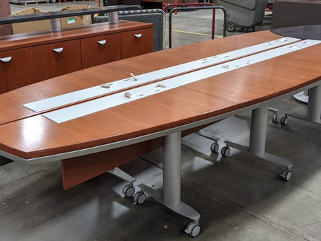 Nevers 14' Conference Table and Credenza
