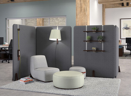 Create Smaller Spaces within your Open Office Plan