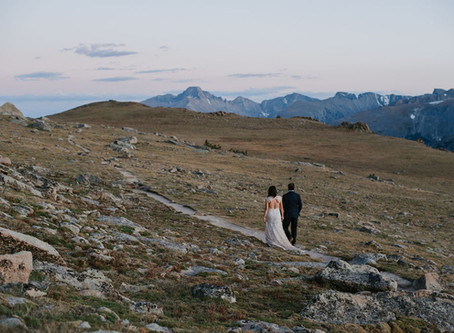 Trail Ridge Road Wedding Portraits / Rocky Mountain National Park