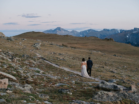 Trail Ridge Road Wedding Portraits / Rocky Mountain National Park