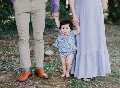 A Sunset Family Session with the Cherry Blossoms