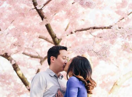 Sneak Peek: A Cherry Blossom Engagement Session