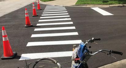 New Striping Crosswalk