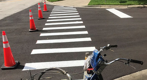 New Striping Crosswalk