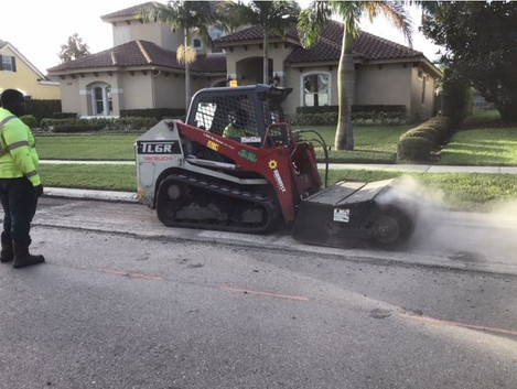 Sweeper Aftermill Before Asphalt