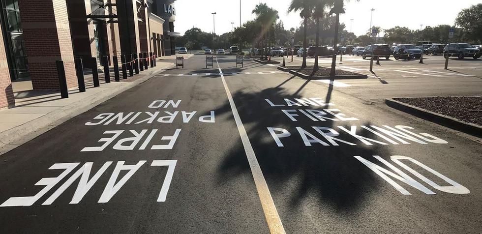 No Parking Striping