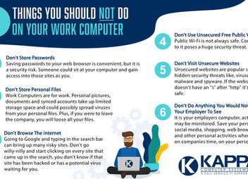 6 THINGS YOU SHOULD NOT DO ON YOUR WORK COMPUTER