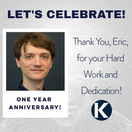 THANK YOU, ERIC FOR ONE YEAR!