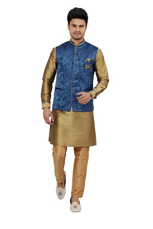 Ethnic | Kurta Paijama | Indian | Jacquard Print Style | Full Sleeve