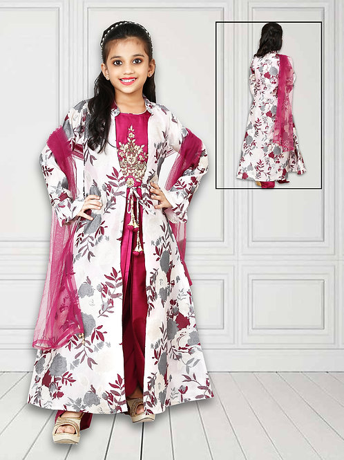 Ethnic, Kids Wear for Girls, Beautiful three pieces dress, Suits Teenagers Tradition Dress, Indian Fashion for Kids