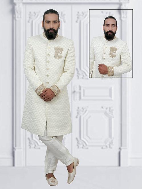 Ethnic | Off white Sherwani | Indian | Sherwani